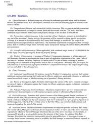 Insurance Requirements and Description
