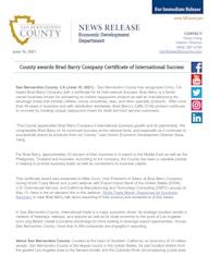 EDA Brad Barry news release