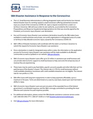 HANDOUT SBA Disaster Assistance Resources for Businesses