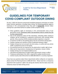 Temporary Outdoor Dining Guidelines